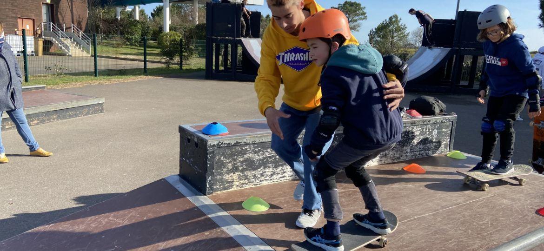 cours de skate en février